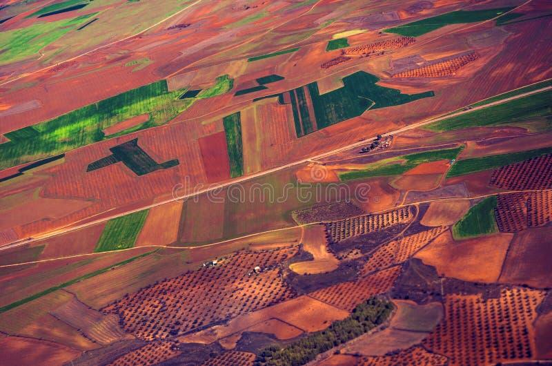 Visión aérea - remiendos fotografía de archivo libre de regalías