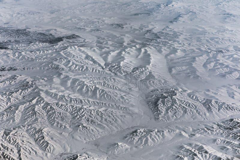 Visión aérea sobre el Himalaya imagen de archivo libre de regalías