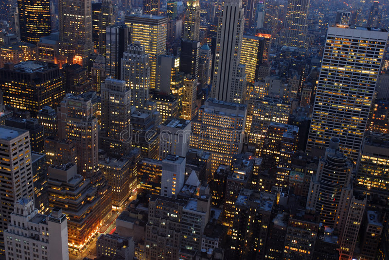 Visión aérea sobre New York City fotografía de archivo