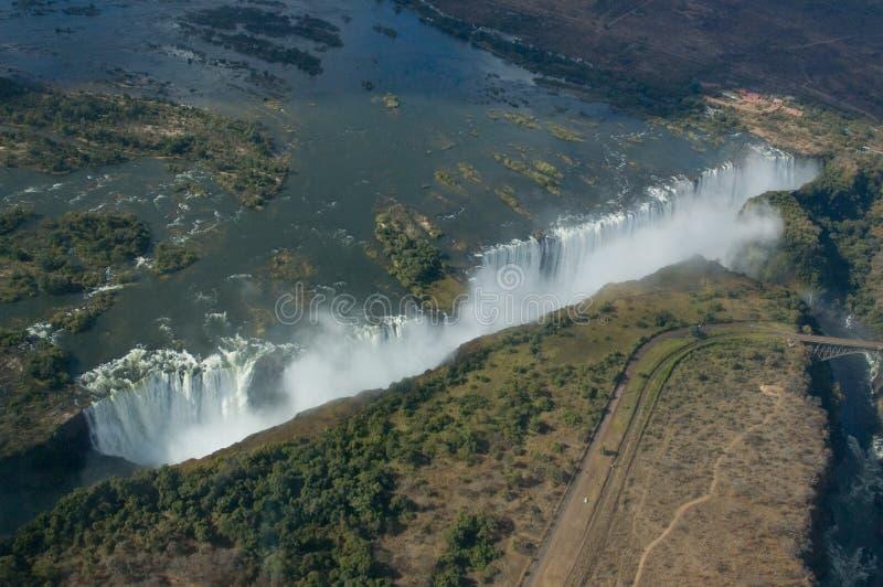 Visión aérea Victoria Falls fotos de archivo libres de regalías