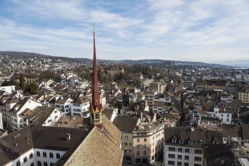 Visión aérea Zurich fotos de archivo libres de regalías