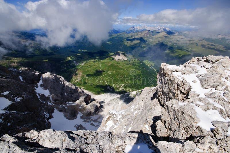 Visión alpina hermosa imagenes de archivo
