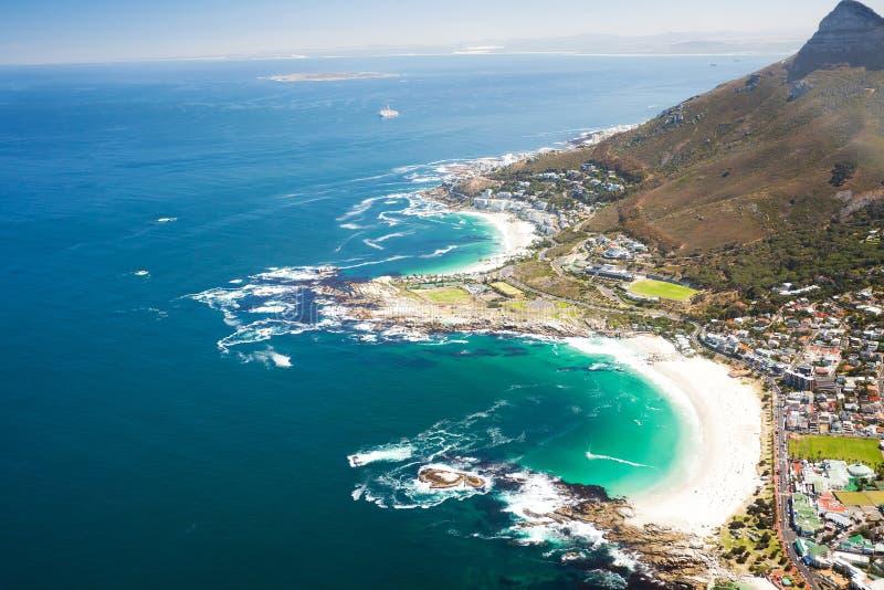 Visión costera aérea imagen de archivo libre de regalías