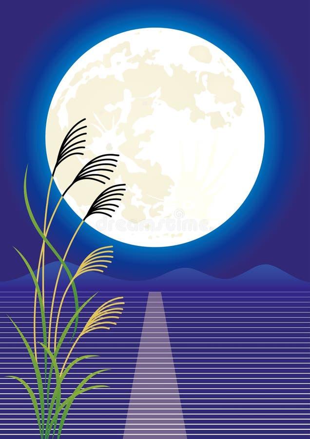 Visión de la luna stock de ilustración