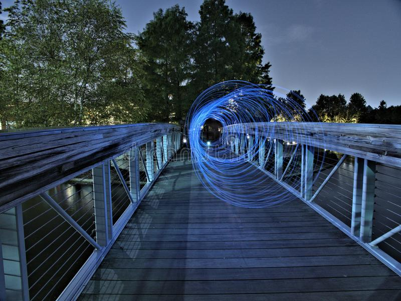Visión de túnel azul fotos de archivo