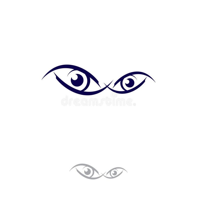 Visión del círculo de la plantilla del diseño de los ojos ilustración del vector