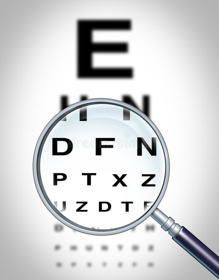 Visión del ojo humano ilustración del vector
