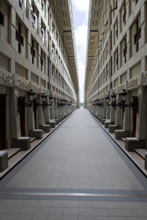 Visión dentro del faro de Columbus foto de archivo libre de regalías