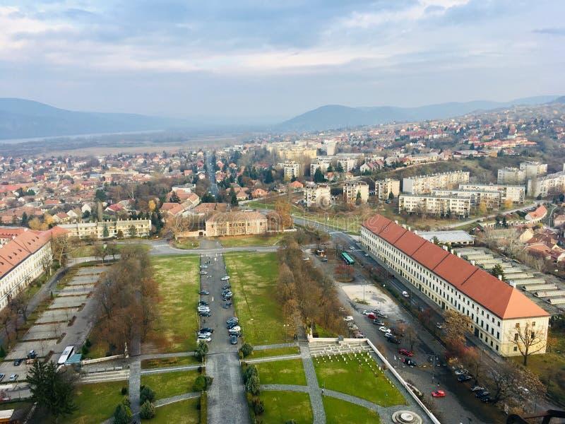 Visión desde arriba de la basílica de Esztergom imagen de archivo