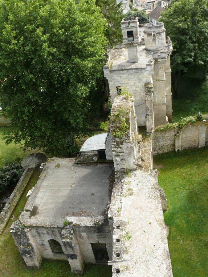 Visión desde arriba de la custodia de Septmonts fotografía de archivo
