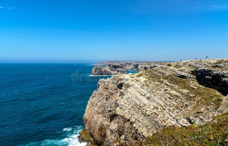 Visión desde Cabo de Sao Vicente Sagres, Algarve, Portugal imagenes de archivo