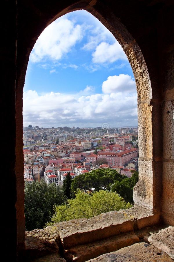 Visión desde Castelo de São Jorge fotografía de archivo