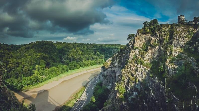 Visión desde Clifton Bridge fotografía de archivo