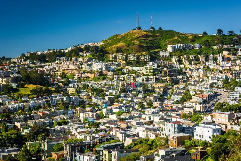 Visión desde Corona Heights Park, en San Francisco imagenes de archivo