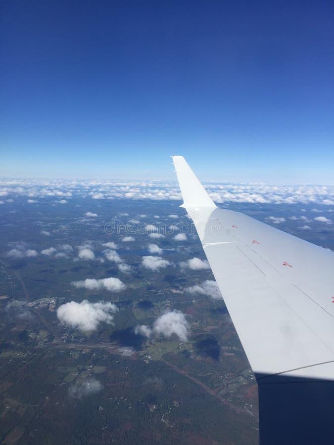 Visión desde el aeroplano imágenes de archivo libres de regalías