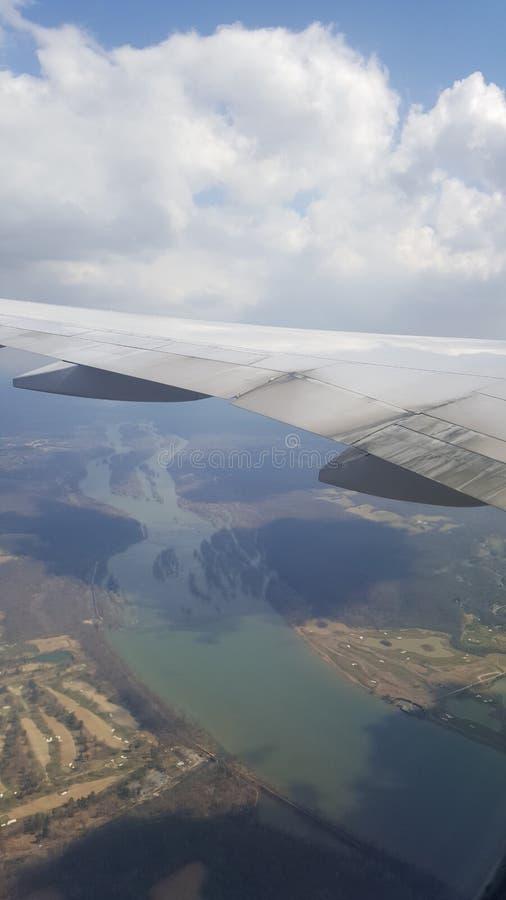 Visión desde el avión imágenes de archivo libres de regalías