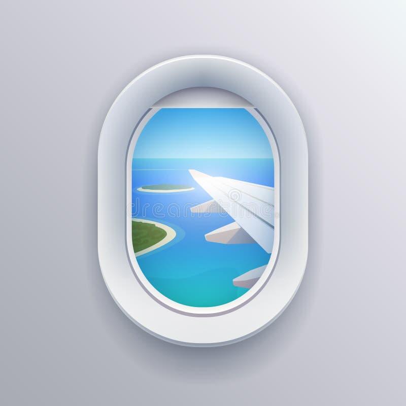 Visión desde el avión ilustración del vector