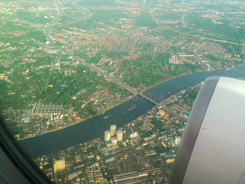 Visión desde el avión de aire imagenes de archivo