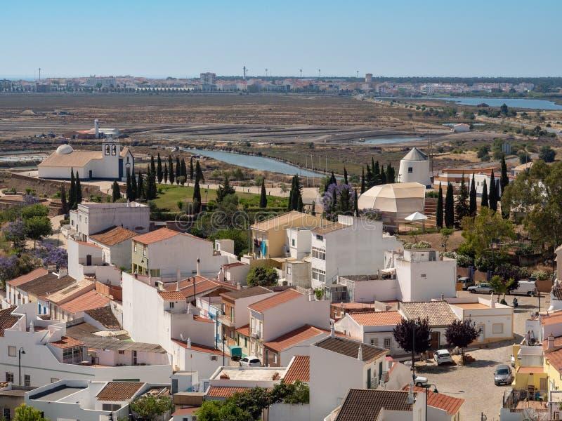 Visión desde el castillo Castro Marim imagen de archivo