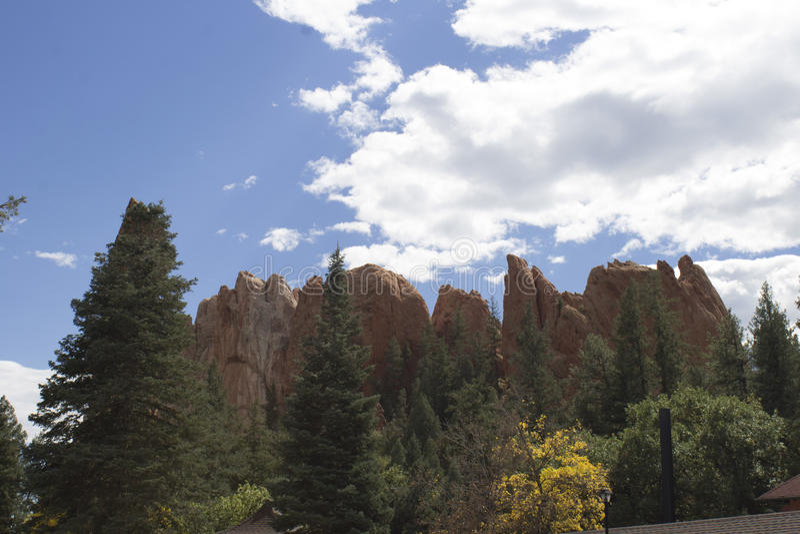Visión desde el castillo de la aguilera fotografía de archivo
