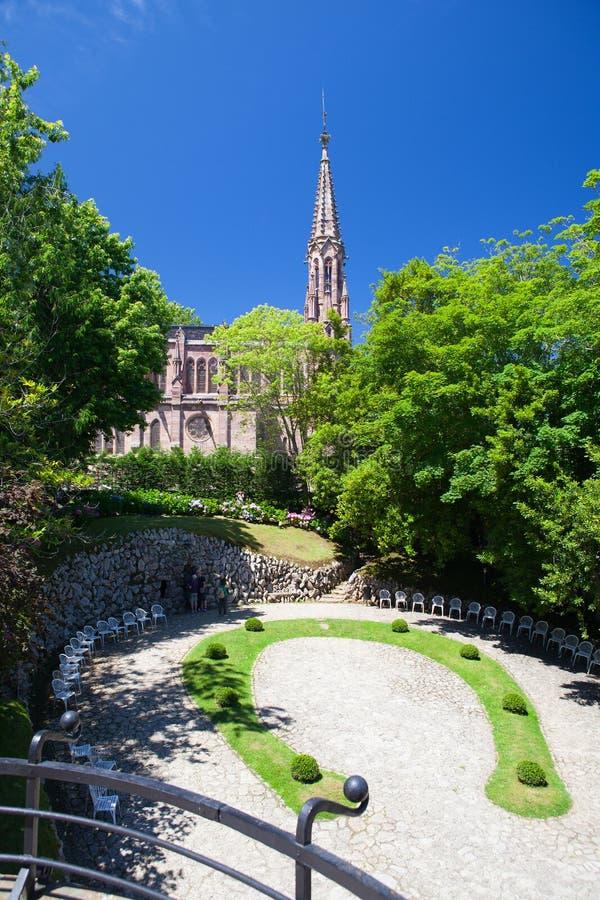 Visión desde el palacio del EL Capricho del arquitecto Gaudi, Comillas foto de archivo libre de regalías