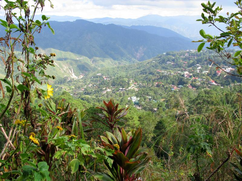 Visión desde el parque de la opinión de las minas, Baguio, Filipinas imágenes de archivo libres de regalías