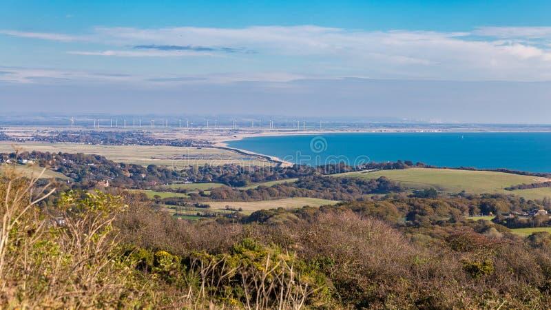 Visión desde el parque del país de Hastings, Sussex del este, Reino Unido imágenes de archivo libres de regalías