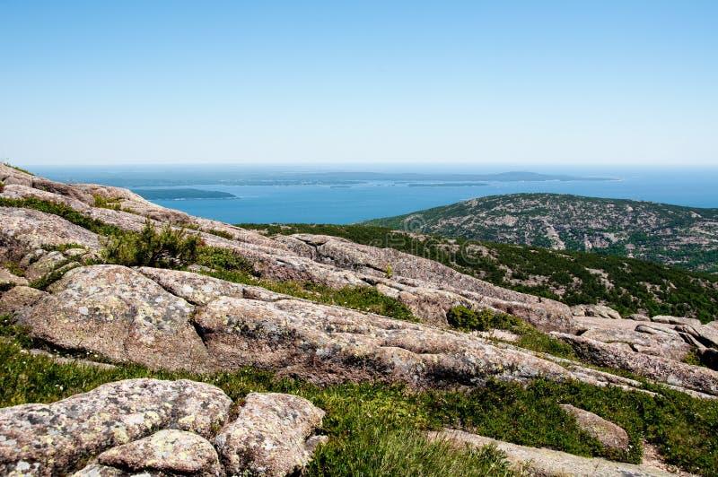 Visión desde el parque nacional del Acadia en Maine, los E.E.U.U. fotos de archivo
