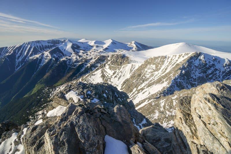 Visión desde el pico de Mytikas del monte Olimpo imágenes de archivo libres de regalías