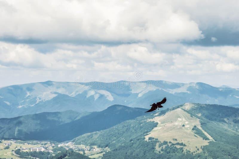 Visión desde el pico de Prasiva, Tatras bajo, Eslovaquia, pájaro de vuelo de la presa fotografía de archivo