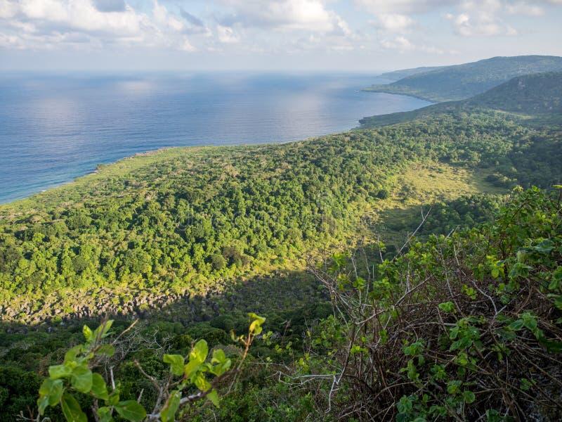 Visión desde el puesto de observación de Margaret Knoll, Isla de Navidad, Australia fotografía de archivo libre de regalías