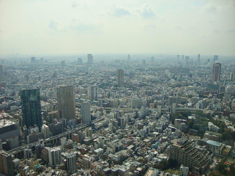 visión desde el rascacielos a la ciudad de Tokio foto de archivo libre de regalías