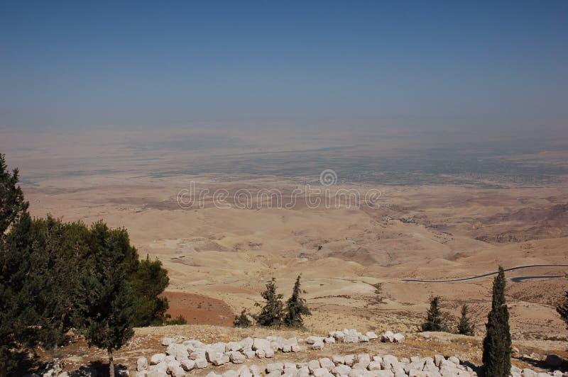 Visión desde el soporte Nebo, Jordania, Oriente Medio foto de archivo libre de regalías