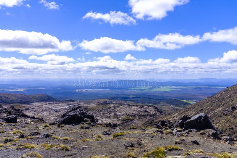 Visión desde el soporte Ruapehu en Nueva Zelanda foto de archivo