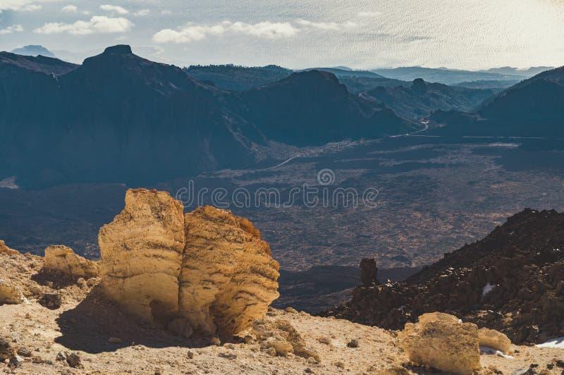 Visión desde el volcán Teide, Tenerife foto de archivo libre de regalías
