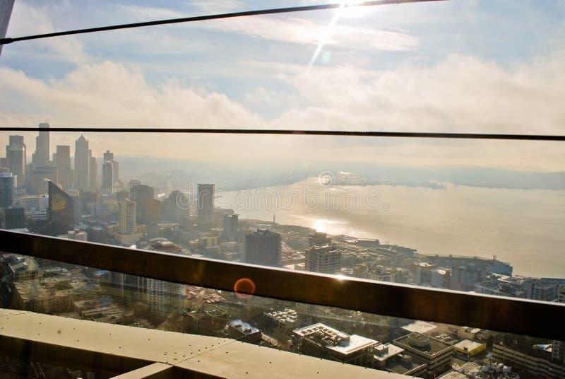 Visión desde la aguja del espacio en Seattle foto de archivo