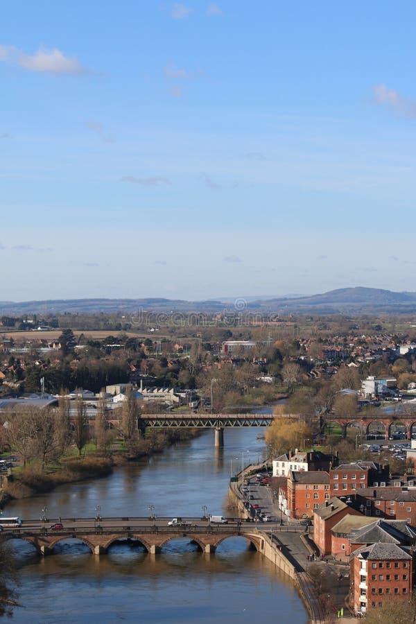 Visión desde la catedral de Worcester imagen de archivo
