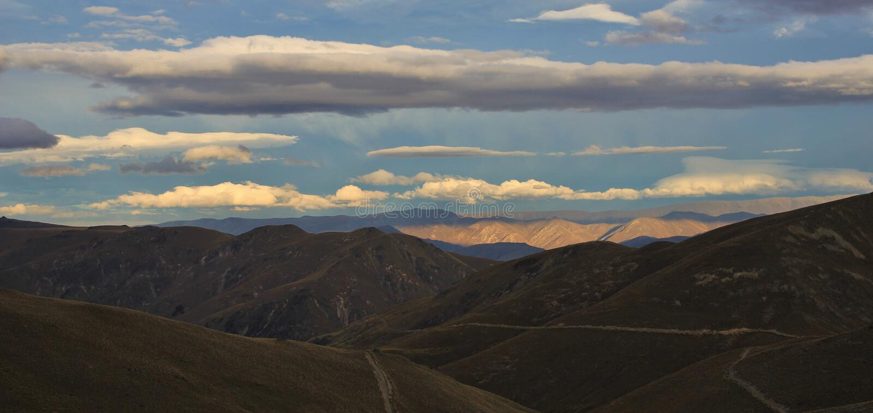 Visión desde la choza de Pakituhi, Otago foto de archivo libre de regalías