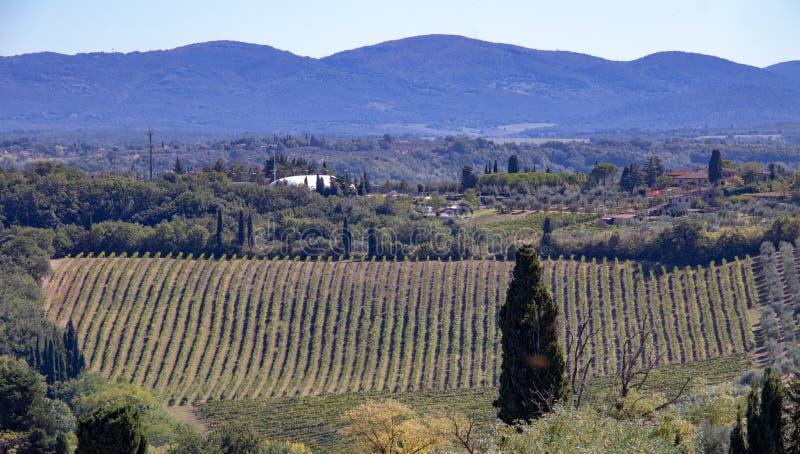 Visión desde la ciudad de San Gimignano foto de archivo