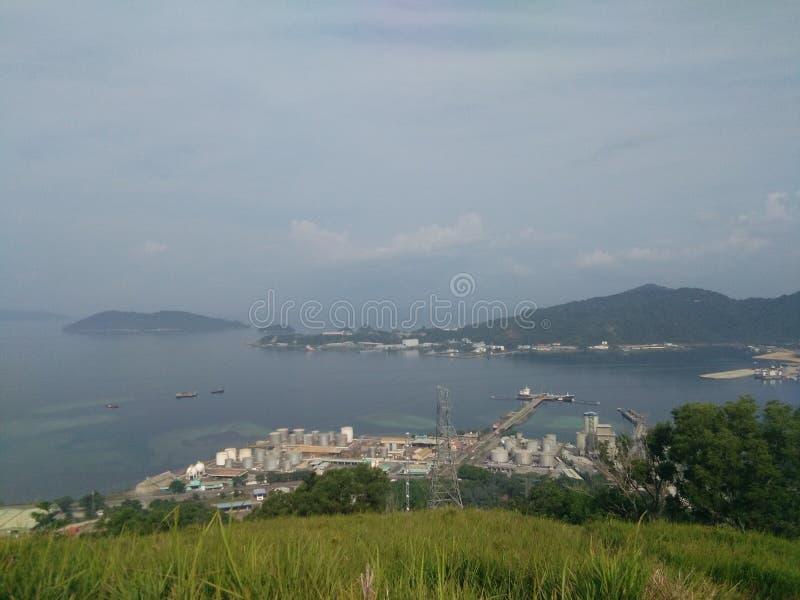 Visión desde la colina de Gundul fotografía de archivo libre de regalías