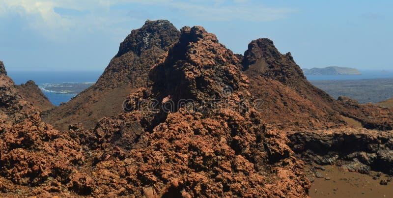 Visión desde la isla de Bartolome foto de archivo libre de regalías