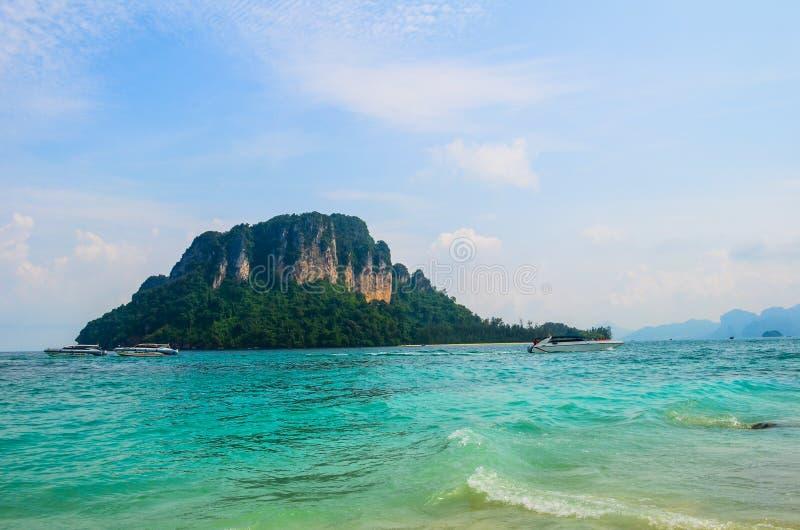 Visión desde la isla de Tup en Krabi, Tailandia foto de archivo libre de regalías