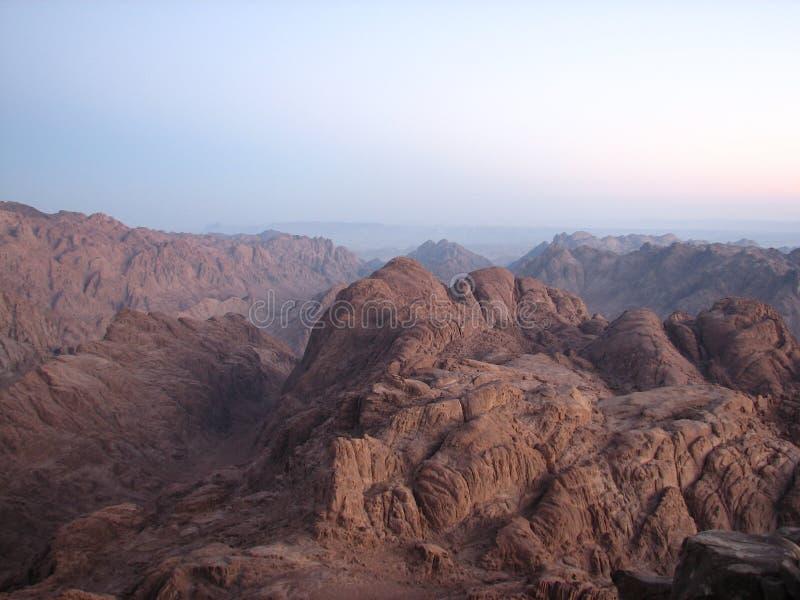 Visión desde la montaña de Moses foto de archivo libre de regalías