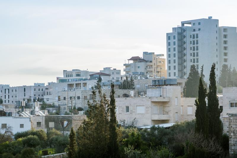 Visión desde la natividad del hotel - correcta foto de archivo