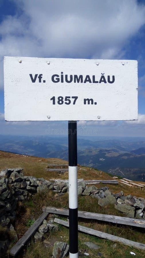Visión desde la ojeada Giumalau imagenes de archivo