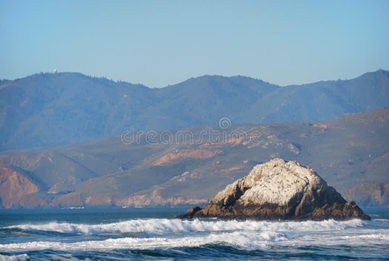Visión desde la playa del océano en San Francisco California fotografía de archivo libre de regalías