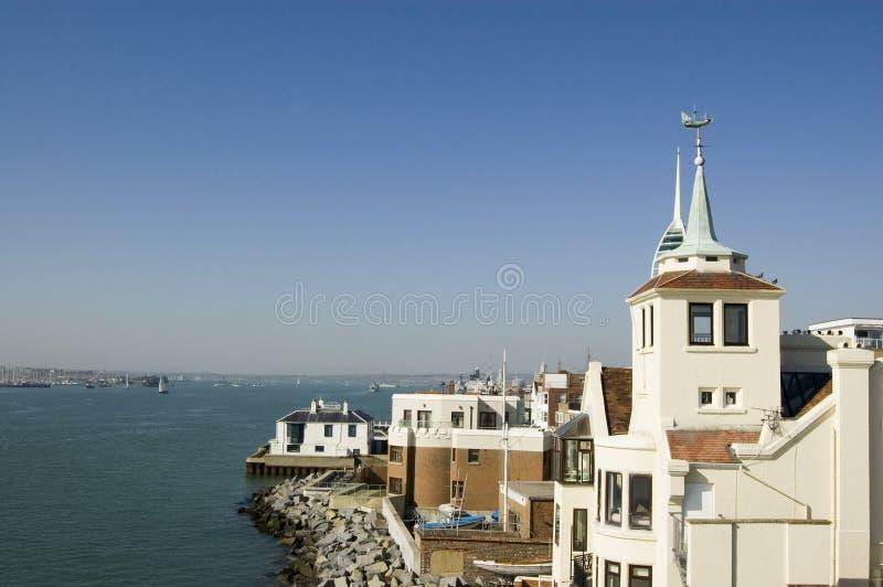 Visión Desde La Torre Cuadrada, Portsmouth Fotos de archivo
