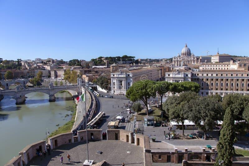Visión desde la torre del santo Ángel en Vaticano fotos de archivo libres de regalías