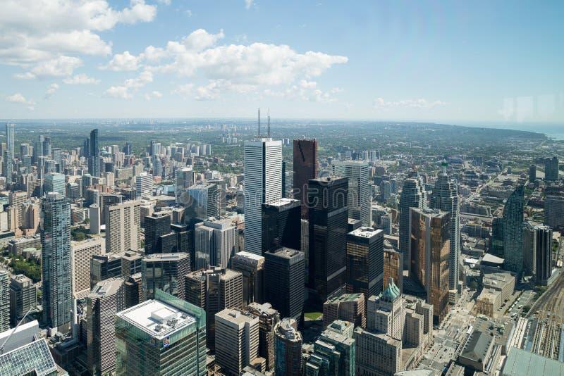 Visión desde la torre en Toronto Ontario imagen de archivo libre de regalías