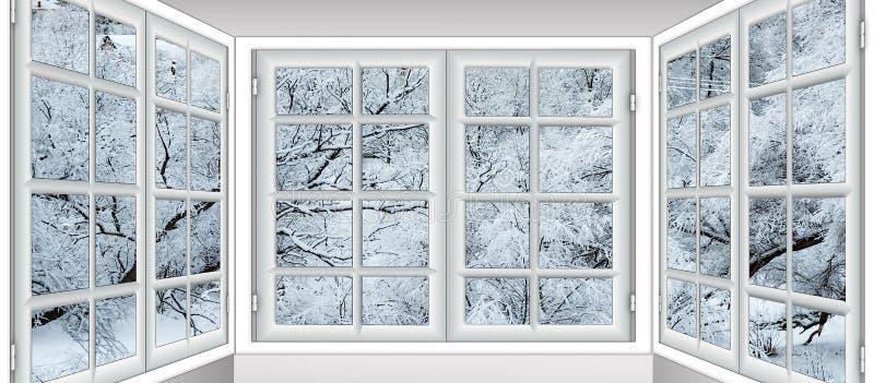 Visión desde la ventana en imagen de archivo